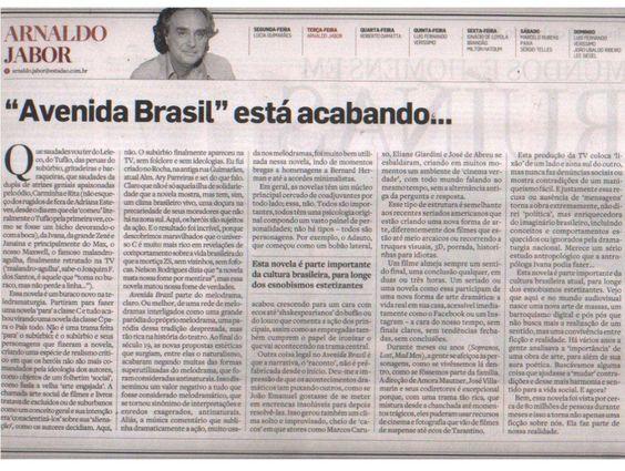 Jabor no Estado sobre avenida Brasil, out 2012