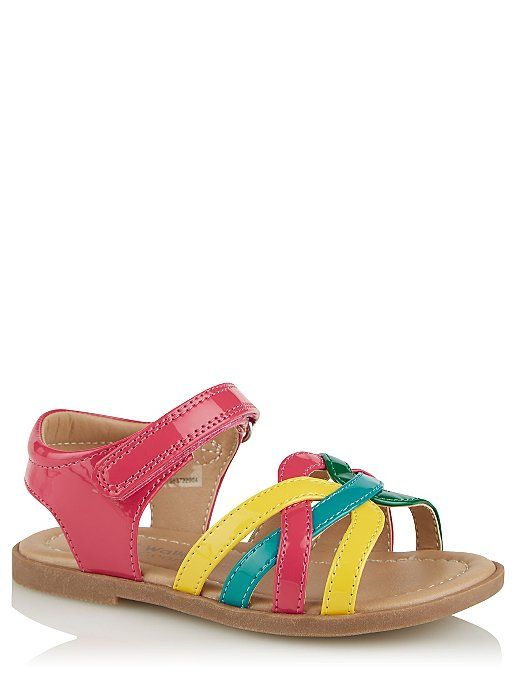 First Walkers Rainbow Strappy Sandals