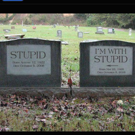 Humorous headstones