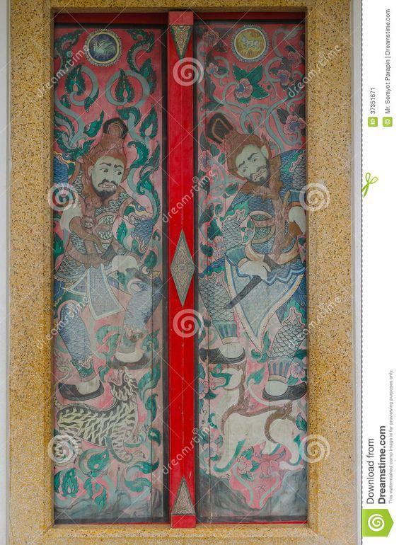 Image from http://thumbs.dreamstime.com/z/thai-chinese-art-paint-mural-multi-colors-door-temple-chonburi-thailand-37351671.jpg.
