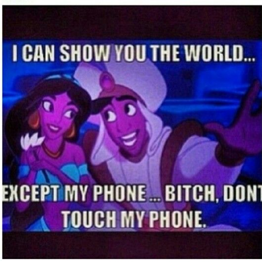 Aladin .. Lmao dont touch my phone