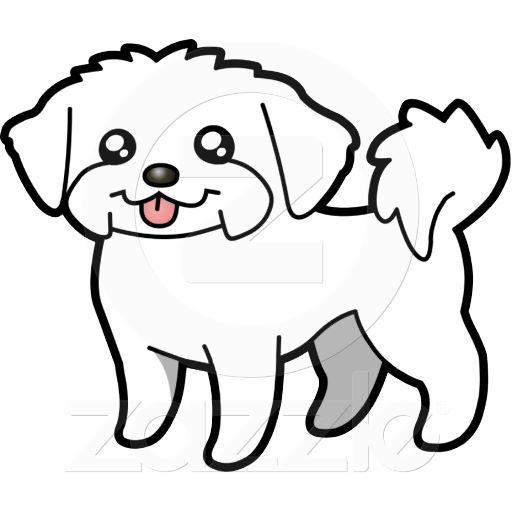 Dibujo Animado Malts perrito Cortado Escultura Fotogrfica
