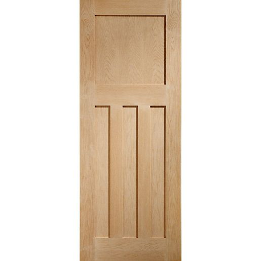 Xl Joinery Dx Oak 1930s Classic Pre Finished Internal Door 1981mm Oak Panels Internal Doors Oak Doors