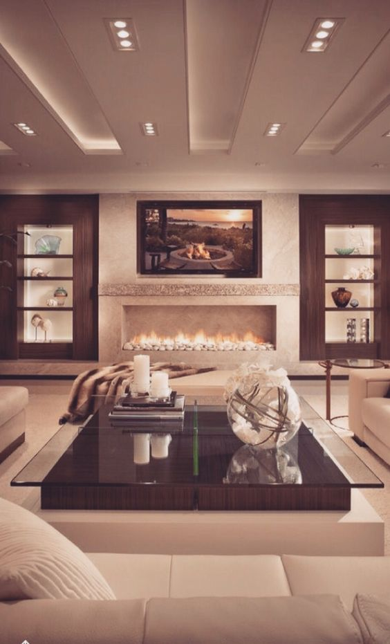 Gorgeously Cozy Living Room Design De Interiores Pinterest Fireplaces Cozy Living And