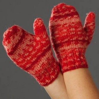 Knitting Pattern For Children s Mittens On Two Needles : Free Knitting Pattern: Childrens Sparkling Mittens Free pattern, Warm ...