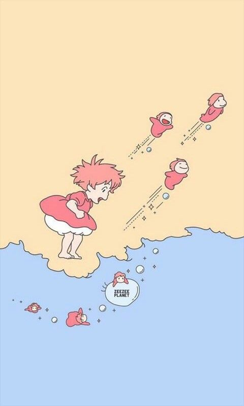 Ponyo Wallpaper Aesthetics Anime Wallpaper Iphone Wallpaper Iphone Cute Anime Wallpaper