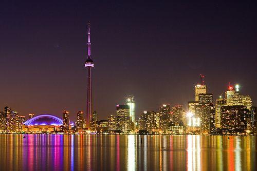 All lit up - Toronto, Canada