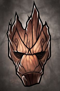 How to Draw Groot Easy, Step by Step, Marvel Characters, Draw Marvel Comics, Comics, FREE Online Drawing Tutorial, Added by Dawn, August 9, 2014, 12:35:49 am