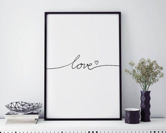 Mot Mur Art Print Amour Affiche Scandinave Pancarte Lettres Pepiniere Vendeur Top Amour Imprimer Articles Les Pl Word Wall Art Nursery Poster Nursery Prints