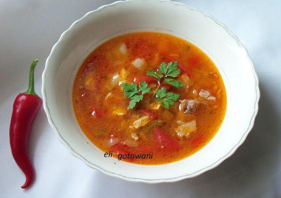 eli gotowanie     : Mięsna zupa na ostro.