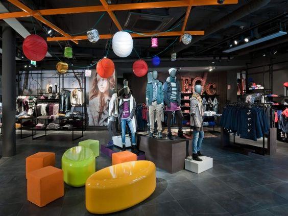 Esprit Frankfurt  Shop Design, Ladenflächen Corneille Uedingslohmann Architekten