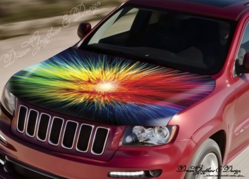 Abstract Flame Full Color Graphics Adhesive Vinyl Sticker Fit Any - Car vinyl decalsabstract full color graphics adhesive vinyl sticker fit any car