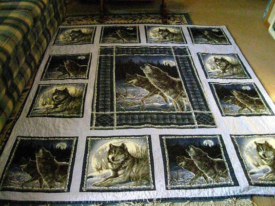 Wolf Quilt Finished1 Flickr Photo Sharing Quilts