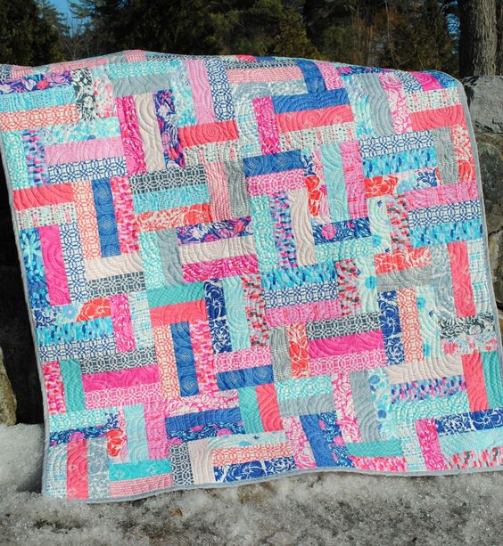 Scrap Quilt Patterns For Beginners : PDF Quilt Pattern.... Easy Beginner Quick ...Strip and Jelly Roll Friendly, Scrappy Ever After ...