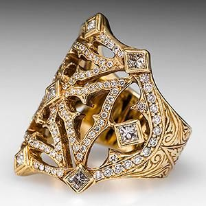 Pinterest the worlds catalog of ideas mens custom made maltese cross ring w diamonds in 18k gold aloadofball Image collections