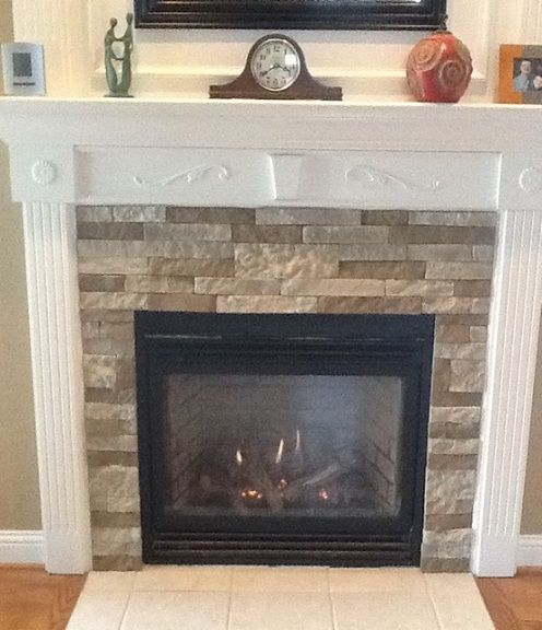 finally something i can use to hide the ugly 80 039 s tile on my fireplace diy pinterest faux stone 80 s and stone