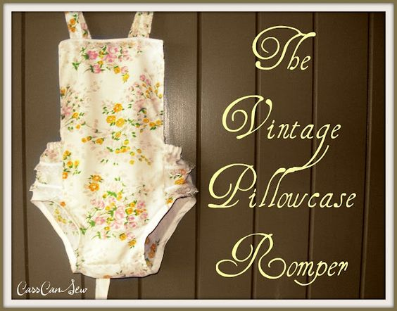 Vintage Pillowcase Romper... Upcycle / Refashion
