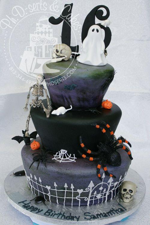 16 Birthday Halloween Birthday Party Times As Sweet Cakes - sweet 16 halloween party ideas