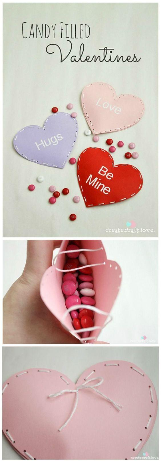 Valentijnsdag cadeau snoep knutselen met kinderen