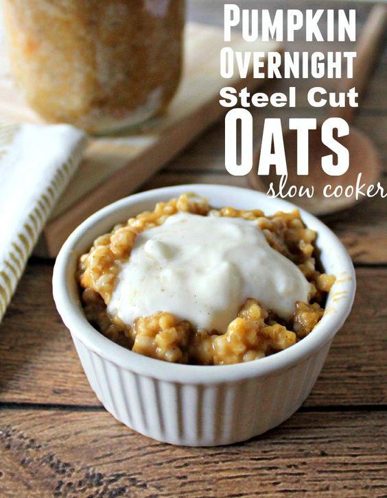 Overnight steel cut oats, Steel cut oats and Pumpkins on Pinterest