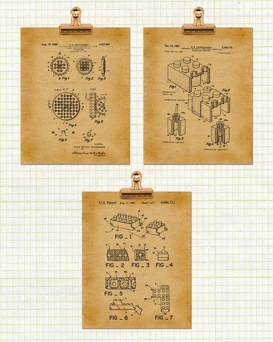 Patent Print Poster Lego Cog Wheel Electrical by PrintablePatent