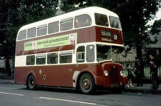 1960s Guy Arab NSF 934, Granton Parish Church, Boswall Parkway, Edinburgh, Scotland late 1960s