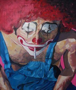 Clowns Painting - Payaso by Jason Balducci