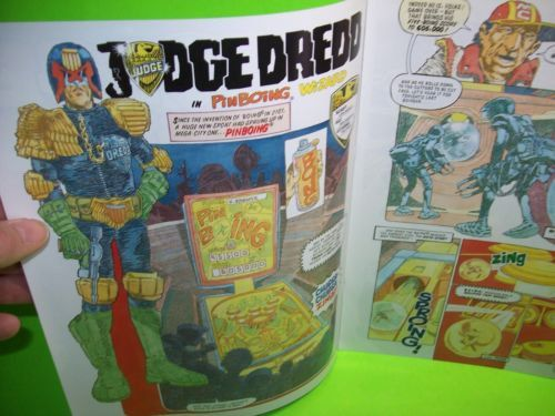 hot sale online more photos purchase cheap Judge Dredd Pinball Comic Book Promo Flyer Original 1993 ...