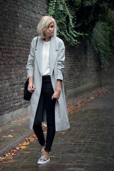 The long grey coat   Women's Look   ASOS Fashion Finder