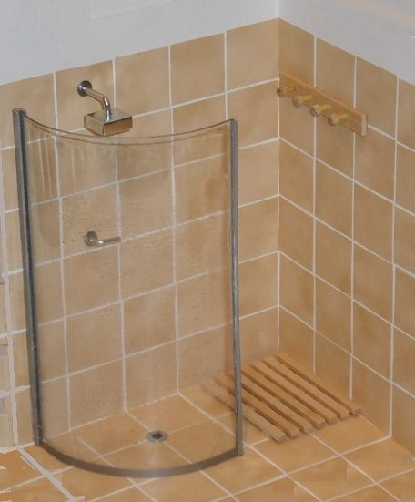 Walk-in shower kit | ELF Miniatures Also does many, reasonably priced, 'modern' appliances: cookers, hoovers etc. UK