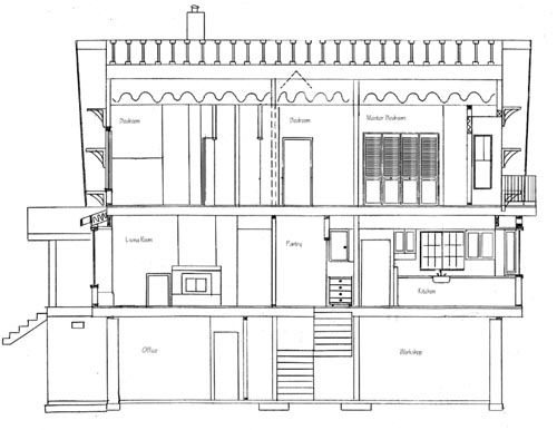 Section Plan Of House House Drawing Architectural Section Section Drawing