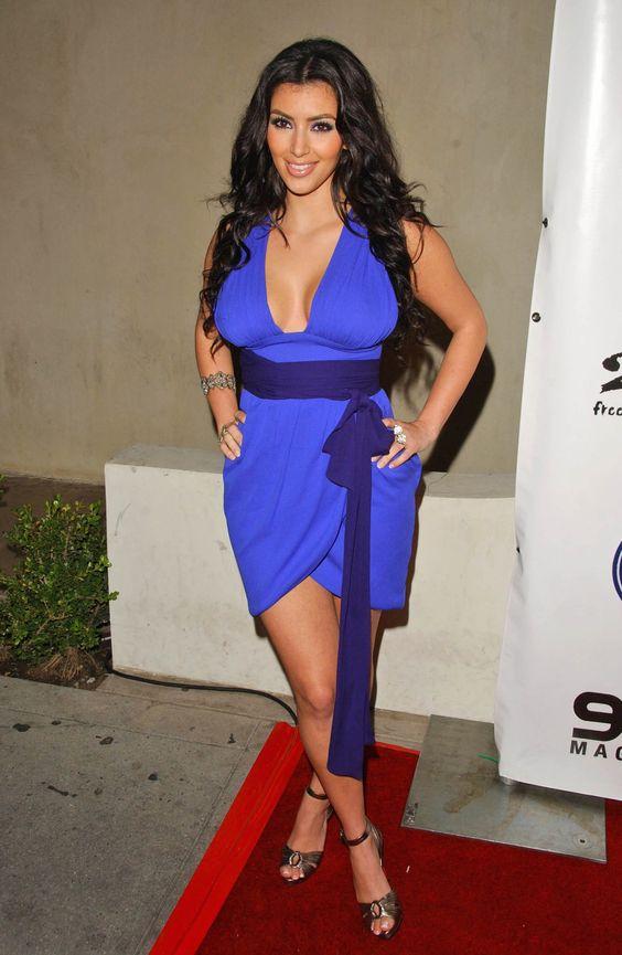blue dress kim kardashian - Looks - Dresses - Evening - Short ...