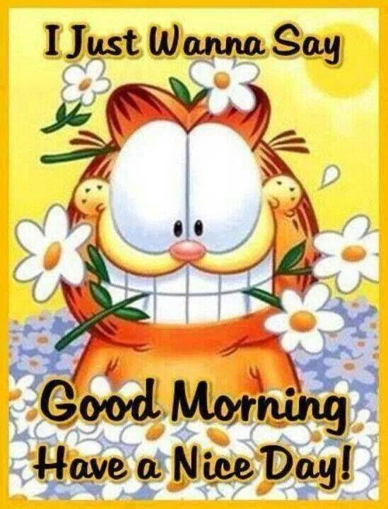 Good Morning Lady German : I just wanna say good morning have a nice day garfield