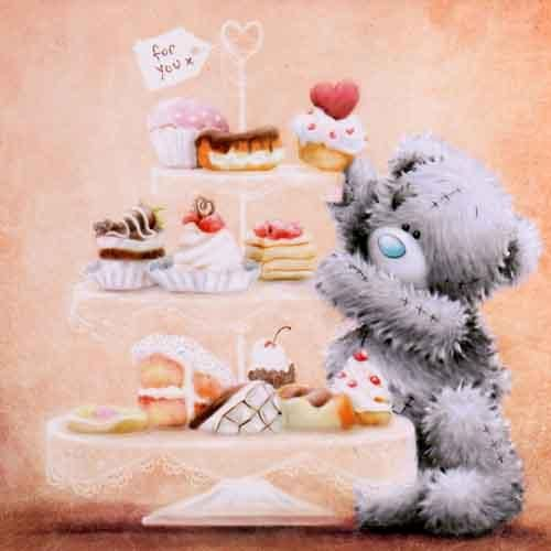 Bear by Cake Stand Me to You Bear Card (A77QS054) : Me to You Online - The Tatty Teddy Superstore.