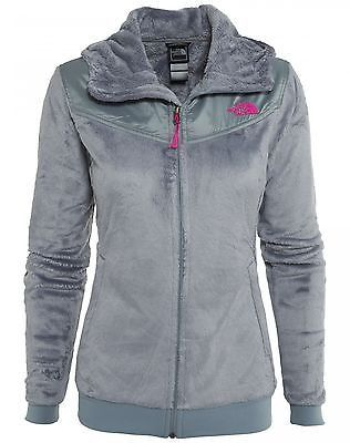 North Face Oso Hoodie Womens C660-CTE Grey Pink Silken Fleece ...