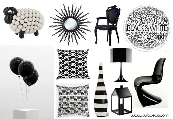 """Black & white -- COLOR INSPIRATION – In the world of interior, black and white definitely have their place. The use of black and white can add a touch of class to a room, as well as a stunning and dramatic decor."" -- Click through to see examples of it in decorating, plus what it symbolizes in culture and feng shui."