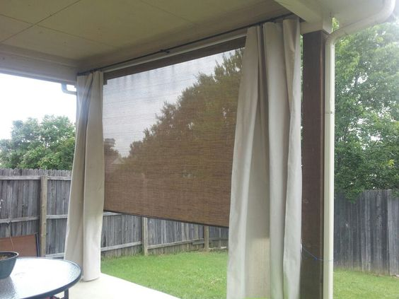 Outdoor Curtains Curtain Rod Holders And Canvas Drop Cloths On Pinterest