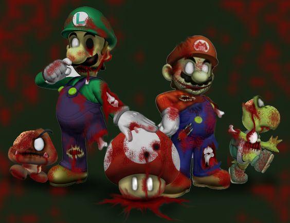 Gnombies Garden: Super Zombie Mario By Littlenatnatz101.deviantart.com