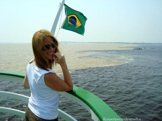 Encontro das Águas do Rio Negro com o Rio Solimões em Manaus
