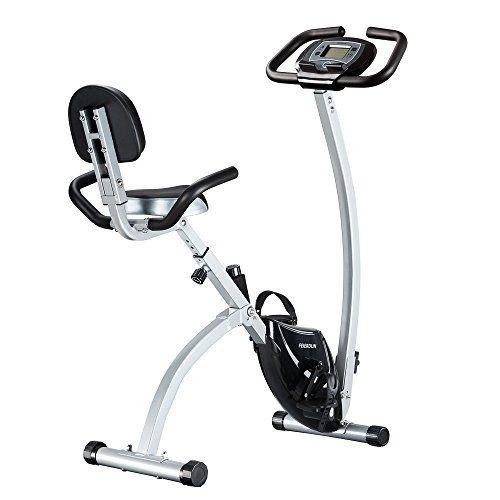 Feierdun Folding Stationary Exercise Bike Adjustable Foldable