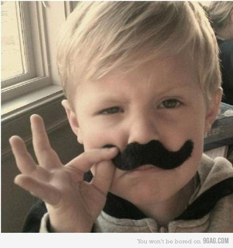 #moustache, #child, #futureson, #inlove