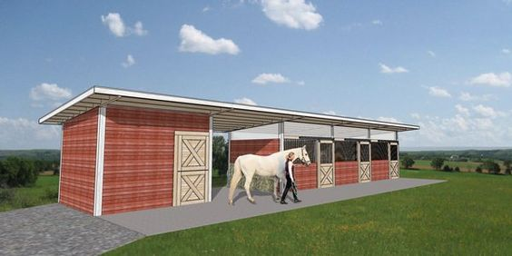 Horse Stall And Barn Kits Standard Frame Horse Barn Kits