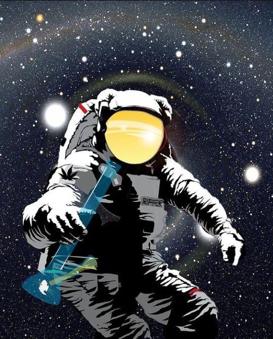 Space Stoner Astronaut Art Art Space Art