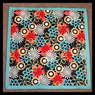 Self Binding Flannel Quilt