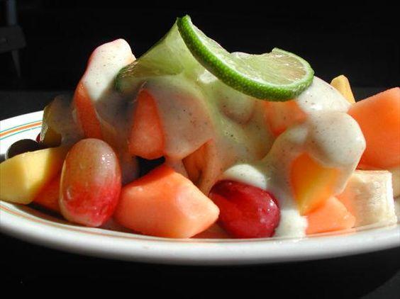 Fresh Fruit in Lime-Yogurt-Cardamom Dressing | Recipe | Fruit, Yogurt ...