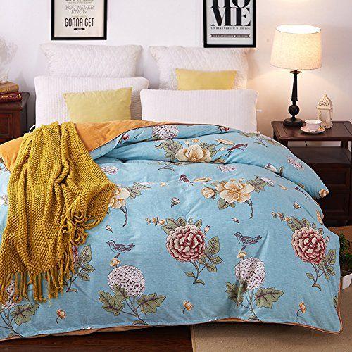 Uydbksjabm Duvet Cover Single Quilt Cover In Winter Padded Velvet Quilt I 200x230cm 79x91inch Single Quilt Duvet Covers Quilt Cover