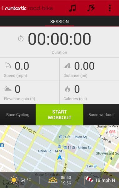Runtastic Road Bike (from Android Niceties)