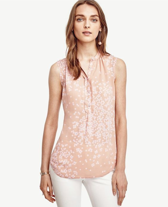 Ann Taylor Petite Blossom Sleeveless Blouse - perfect for work ...
