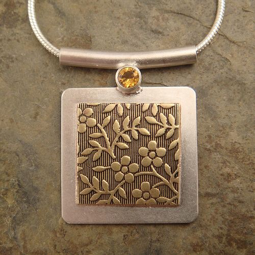 square+pendant+with+faceted+citrine