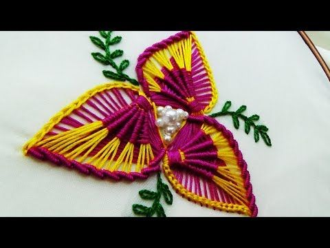 Hand Embroidery Flower Embroidery Youtube Con Imagenes